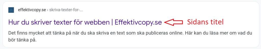 Exempel på text för sidans titel